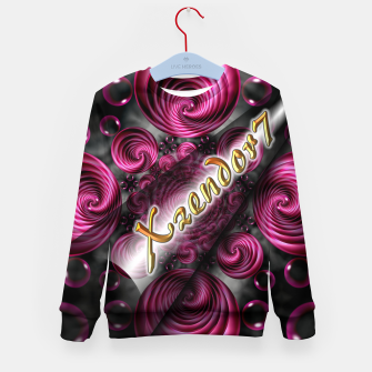Xzendor7 Satin Rose Circular Spirals Kid's sweater thumbnail image
