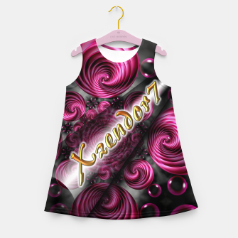 Xzendor7 Satin Rose Circular Spirals Girl's summer dress thumbnail image