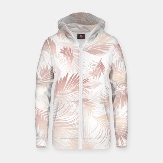Miniaturka Tropical Rose Gold Palms Pattern #1 #tropical #decor #art  Reißverschluss kapuzenpullover, Live Heroes