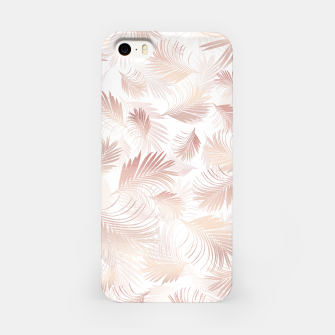 Miniatur Tropical Rose Gold Palms Pattern #1 #tropical #decor #art  iPhone-Hülle, Live Heroes