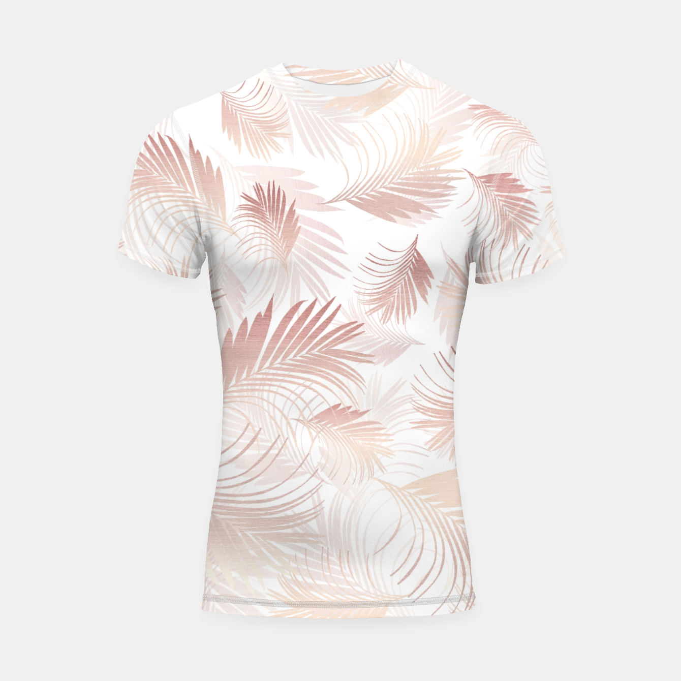 Image of Tropical Rose Gold Palms Pattern #1 #tropical #decor #art  Shortsleeve rashguard - Live Heroes
