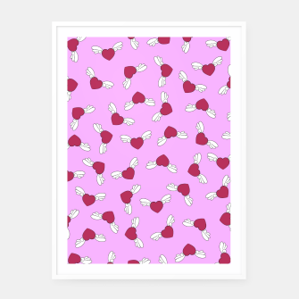 Thumbnail image of Love is in the air - Pink Framed poster, Live Heroes