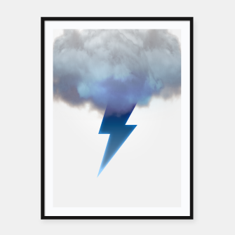Thumbnail image of Cloud Storm Framed poster, Live Heroes