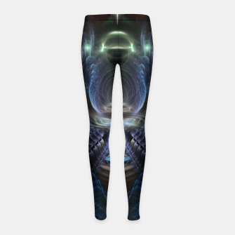 Thumbnail image of The Time Portal Girl's leggings, Live Heroes
