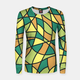 Miniatur Curved Mosaic 01 Women sweater, Live Heroes