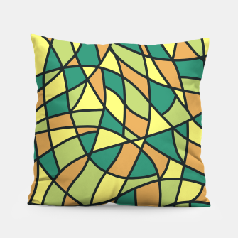 Miniatur Curved Mosaic 01 Pillow, Live Heroes