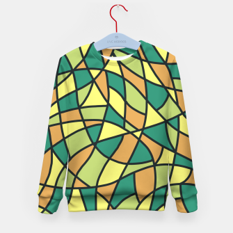 Miniatur Curved Mosaic 01 Kid's sweater, Live Heroes