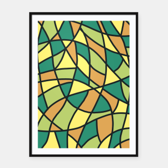 Thumbnail image of Curved Mosaic 01 Framed poster, Live Heroes
