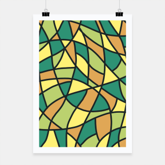 Thumbnail image of Curved Mosaic 01 Poster, Live Heroes