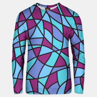 Miniatur Curved Mosaic 02 Unisex sweater, Live Heroes
