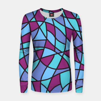 Miniatur Curved Mosaic 02 Women sweater, Live Heroes