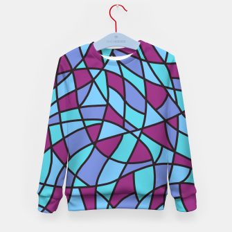 Miniatur Curved Mosaic 02 Kid's sweater, Live Heroes