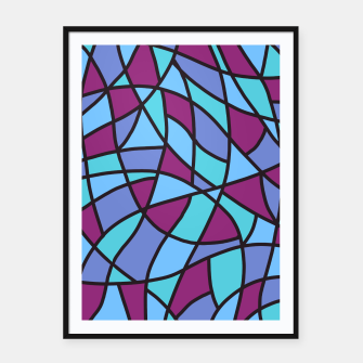 Thumbnail image of Curved Mosaic 02 Framed poster, Live Heroes