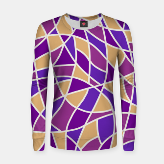 Miniatur Curved Mosaic 03 Women sweater, Live Heroes