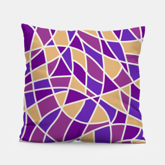 Miniatur Curved Mosaic 03 Pillow, Live Heroes