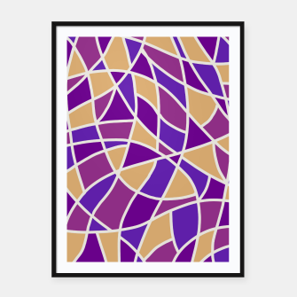 Thumbnail image of Curved Mosaic 03 Framed poster, Live Heroes