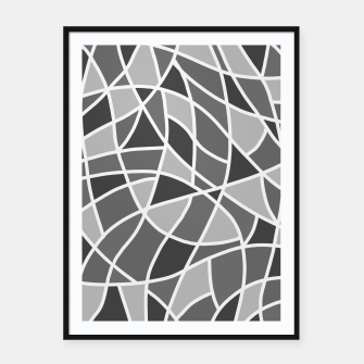 Thumbnail image of Curved mosaic 06 Framed poster, Live Heroes