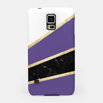 Thumbnail image of Ultra Violet, White, Black Marble and Gold Stripes Glam #1 #minimal #decor #art  Handyhülle für Samsung, Live Heroes
