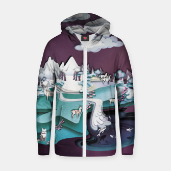 Paper Mountains Zip up hoodie thumbnail image