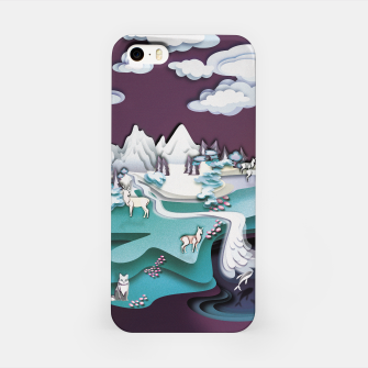 Miniatur Paper Mountains iPhone Case, Live Heroes