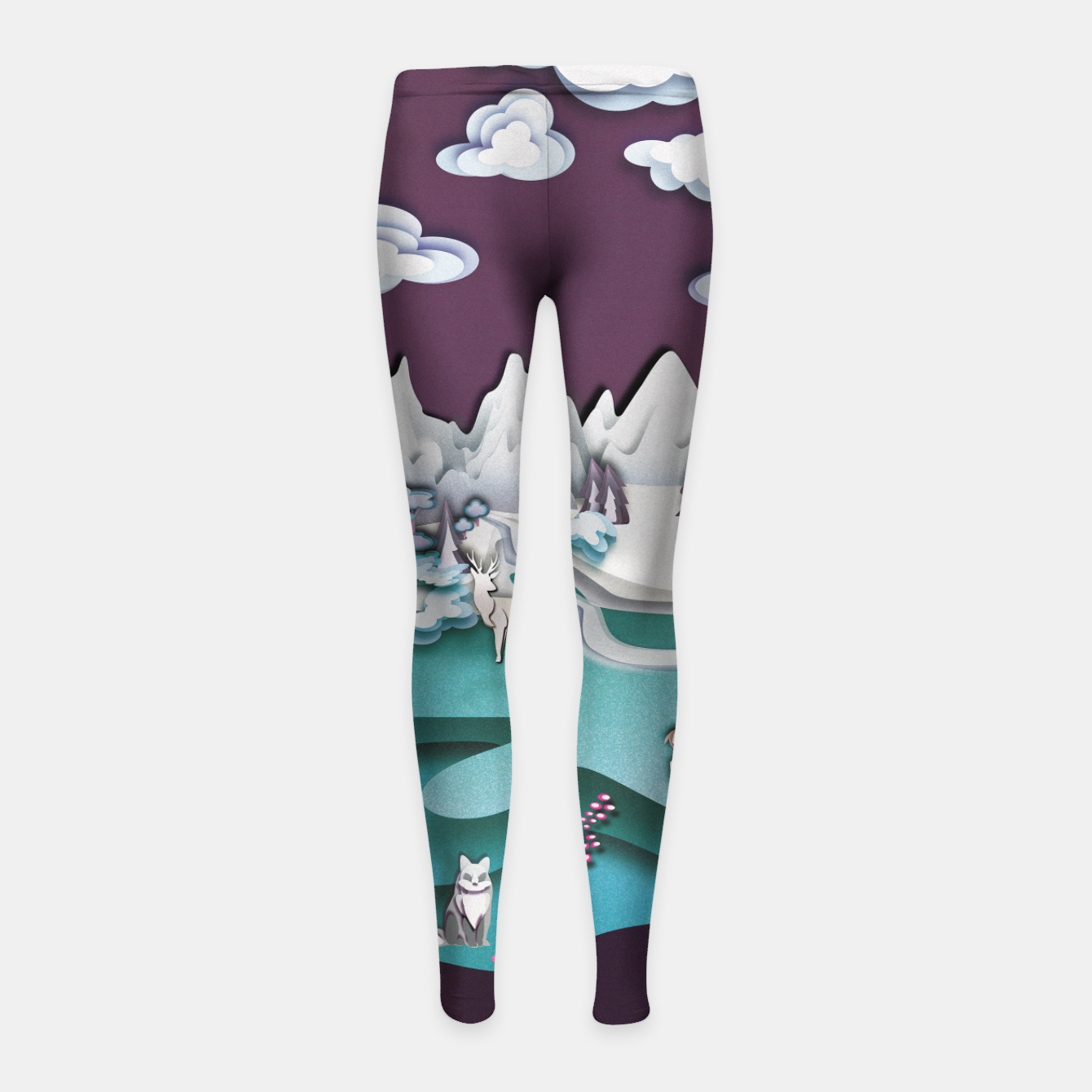 Image of Paper Mountains Girl's leggings - Live Heroes