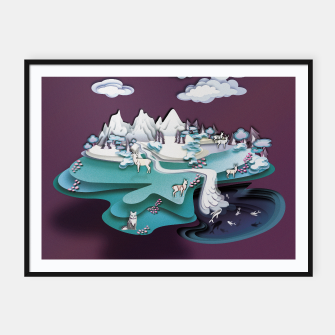 Paper Mountains Framed poster thumbnail image