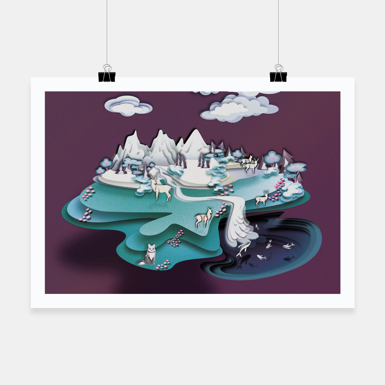 Image of Paper Mountains Poster - Live Heroes