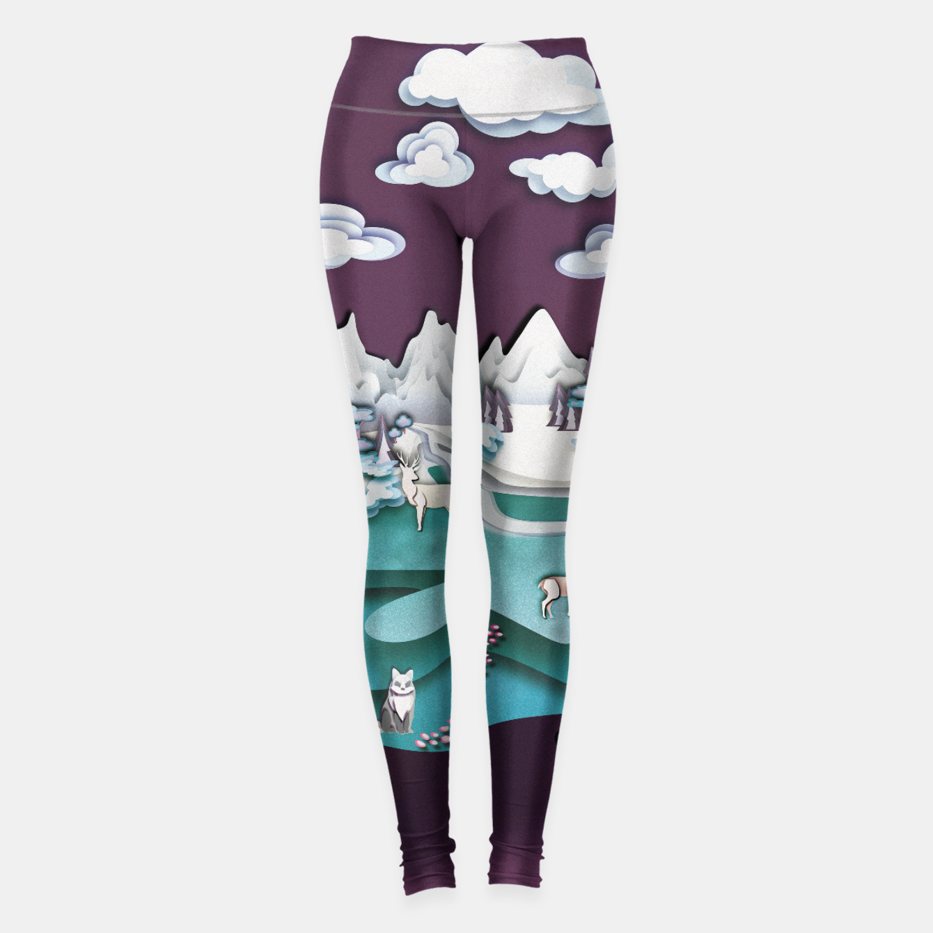 Image of Paper Mountains Leggings - Live Heroes