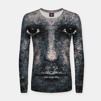 Thumbnail image of Foam Man Photo Manipulation Art Women sweater, Live Heroes
