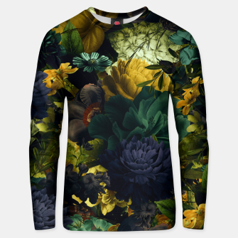 Miniatur melancholy flowers big seamless pattern 01 tension green Unisex sweater, Live Heroes