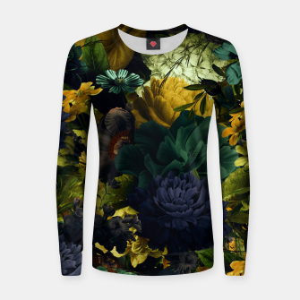 Thumbnail image of melancholy flowers big seamless pattern 01 tension green Women sweater, Live Heroes