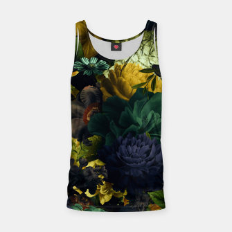 Miniatur melancholy flowers big seamless pattern 01 tension green Tank Top, Live Heroes