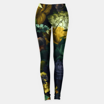 Miniatur melancholy flowers big seamless pattern 01 tension green Leggings, Live Heroes
