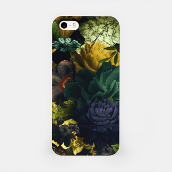 Miniatur melancholy flowers big seamless pattern 01 tension green iPhone Case, Live Heroes