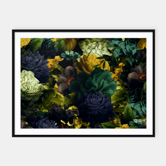 Thumbnail image of melancholy flowers big seamless pattern 01 tension green Framed poster, Live Heroes