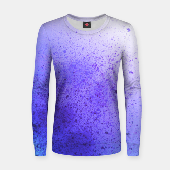 Thumbnail image of Lavender Violet Blue Spray Paint Art Women sweater, Live Heroes
