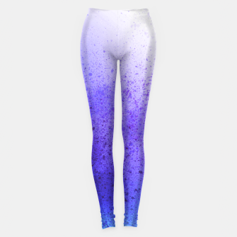 Miniatur Lavender Violet Blue Spray Paint Art Leggings, Live Heroes