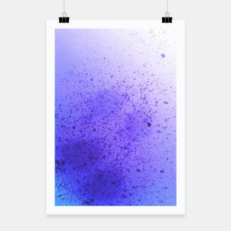Thumbnail image of Lavender Violet Blue Spray Paint Art Poster, Live Heroes