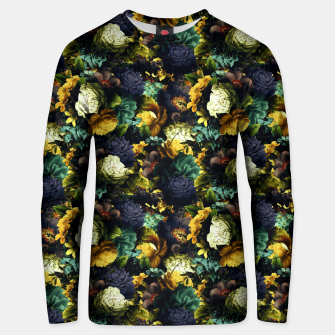 Miniatur melancholy flowers small seamless pattern 01 tension green Unisex sweater, Live Heroes