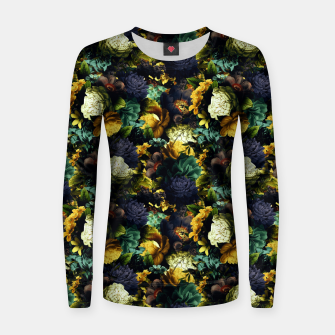 Thumbnail image of melancholy flowers small seamless pattern 01 tension green Women sweater, Live Heroes
