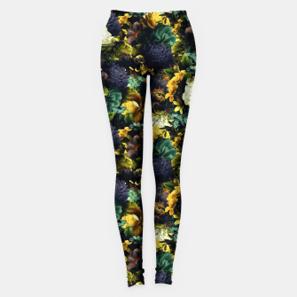 Thumbnail image of melancholy flowers small seamless pattern 01 tension green Leggings, Live Heroes
