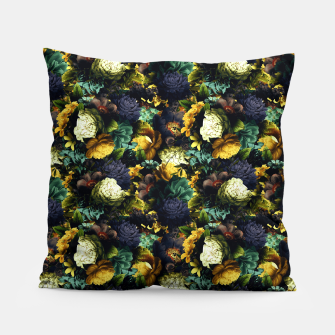 Thumbnail image of melancholy flowers small seamless pattern 01 tension green Pillow, Live Heroes