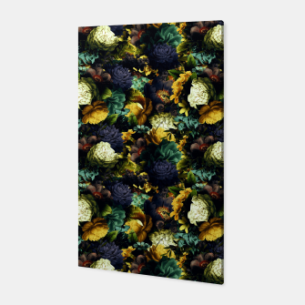 Miniatur melancholy flowers small seamless pattern 01 tension green Canvas, Live Heroes