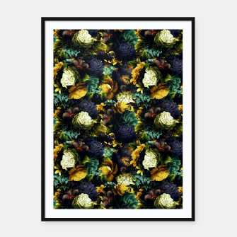 Miniatur melancholy flowers small seamless pattern 01 tension green Framed poster, Live Heroes