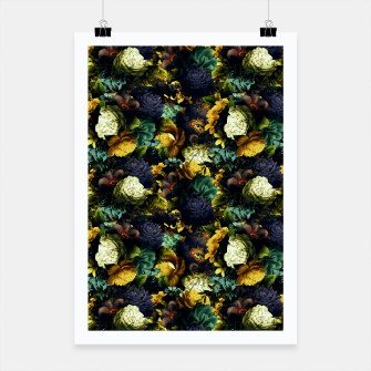 Miniaturka melancholy flowers small seamless pattern 01 tension green Poster, Live Heroes