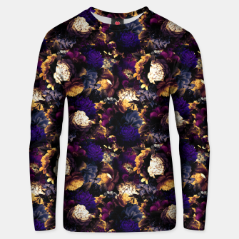 Miniatur melancholy flowers small seamless pattern 01 late sunset Unisex sweater, Live Heroes