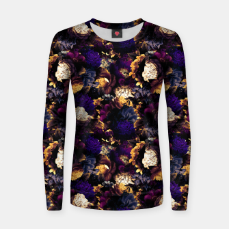 Thumbnail image of melancholy flowers small seamless pattern 01 late sunset Women sweater, Live Heroes