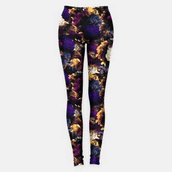 Thumbnail image of melancholy flowers small seamless pattern 01 late sunset Leggings, Live Heroes