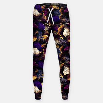 Imagen en miniatura de melancholy flowers small seamless pattern 01 late sunset Sweatpants, Live Heroes