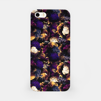 Miniatur melancholy flowers small seamless pattern 01 late sunset iPhone Case, Live Heroes